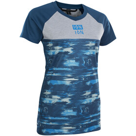 ION Scrub AMP Distortion T-shirt Dames, ocean blue